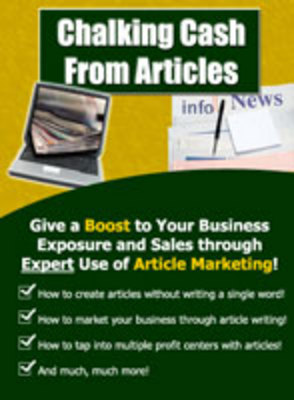 Product picture Chalking Cash From Articles - Increase your income online